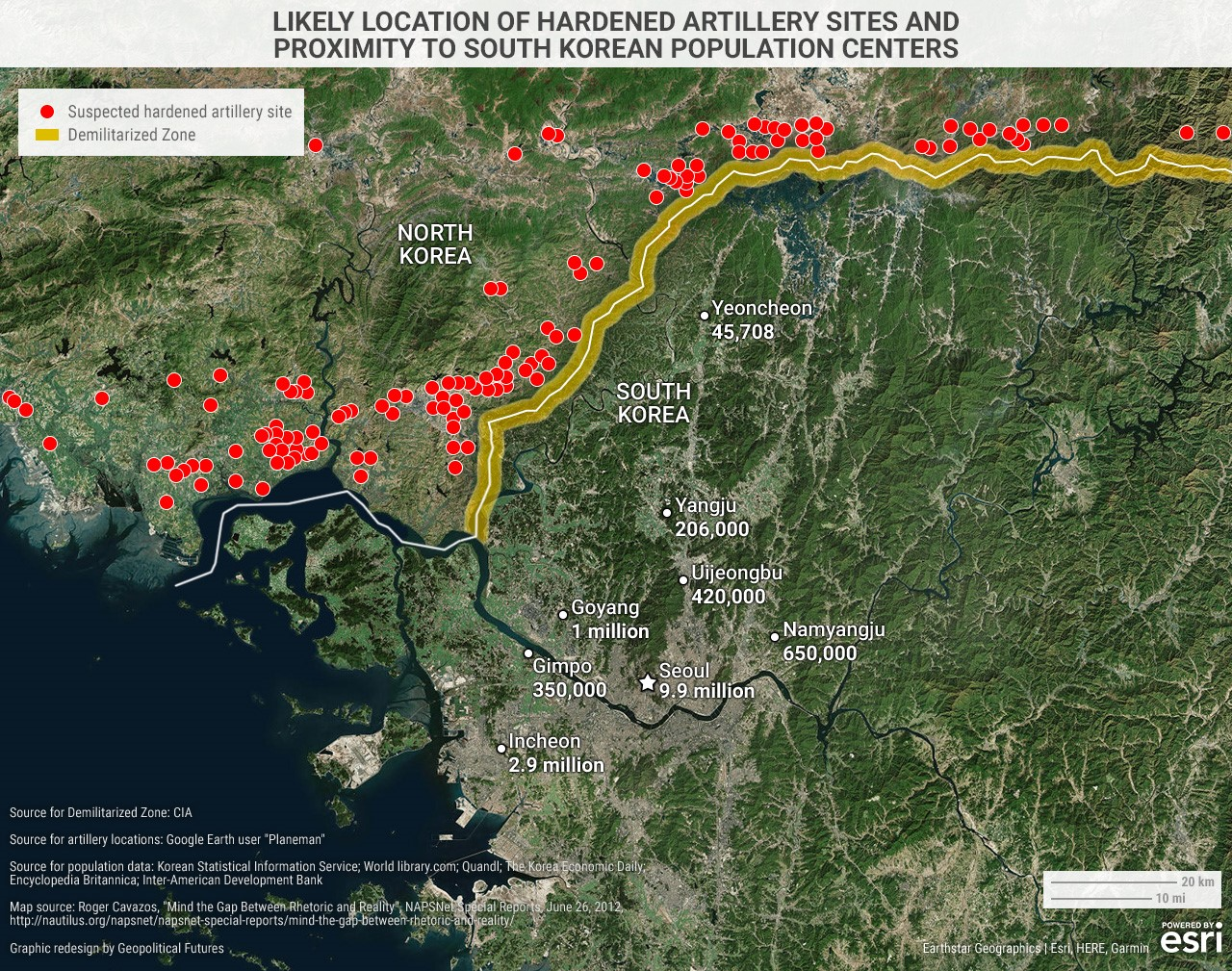 Here's A Closer Look At North Korea's Artillery Capabilities ... on aleutian chain map, pankisi gorge map, bridge of no return, ohio renaissance festival map, camp greaves map, south korea map, aftermath of the korean war, korean border, camp bonifas, buffer zone, division of korea, korean demilitarized zone, north china map, neutral nations supervisory commission, baltimore metro area map, korean wall, canadian maritimes map, saint lawrence seaway map, northern limit line, korean reunification, military demarcation line, mona passage map, camp pelham korea map, north korea map, korean peninsula, joint security area, south polar map, axe murder incident, pine ridge indian reservation map, vietnam border map, third tunnel of aggression, army bases in korea map, kij�ng-dong,
