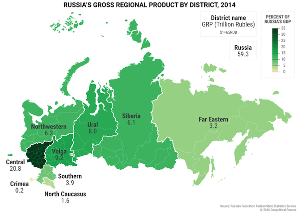 Maps That Explain US Main Economic Strength Over Russia - Us gdp map