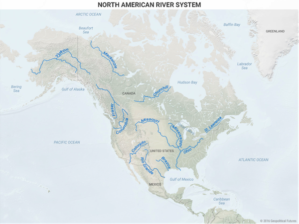 Maps That Explain Why North America Will Flourish Editorial - Map of the us rivers