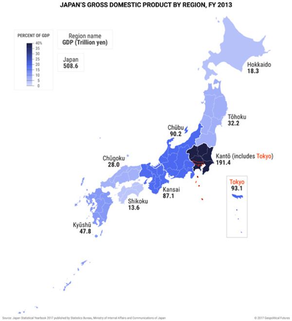 map of japan below seems to imply a similar level of wealth concentration in certain regions like china japan is informally divided into regions and
