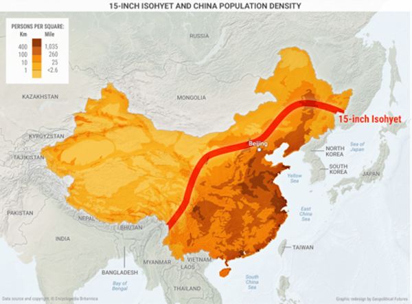 Maps That Show Chinas Biggest Limitations Zero Hedge - Map of us with west undeleoped