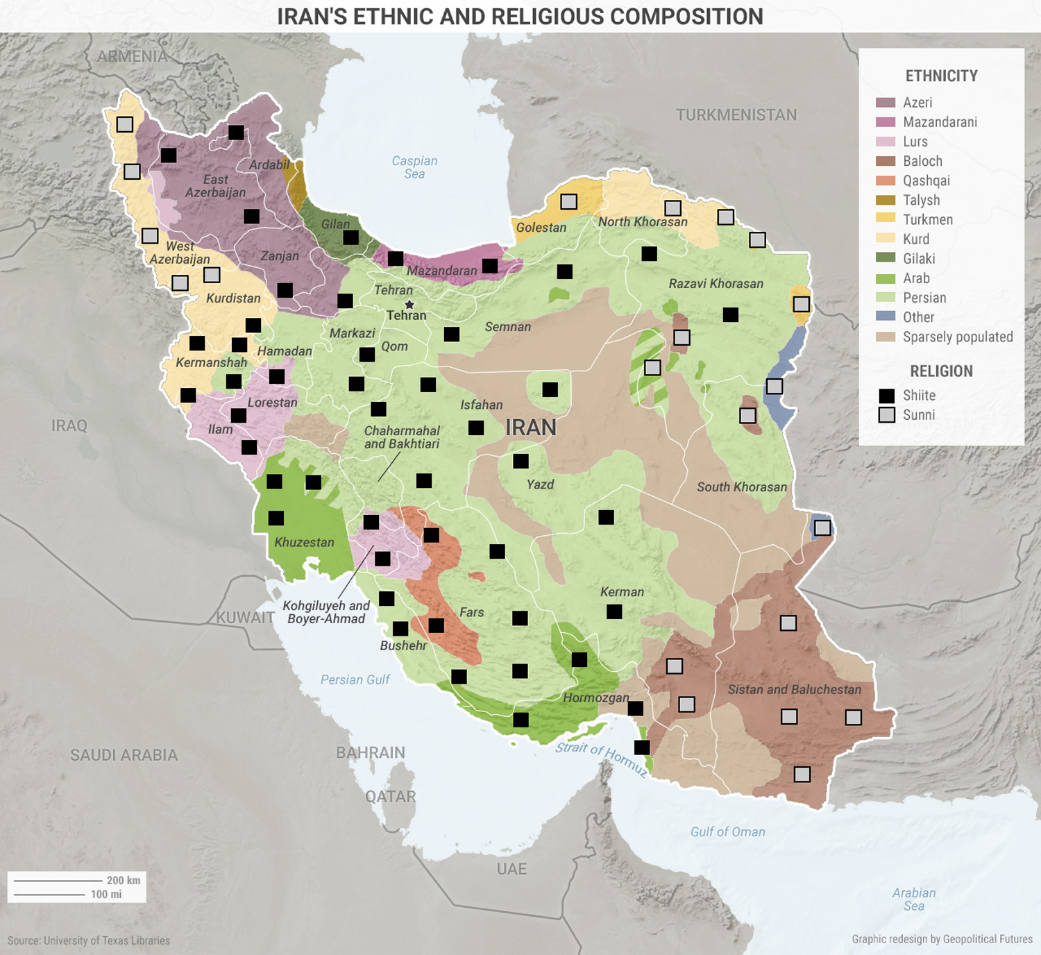 Four Maps That Explain Irans Place In The Middle East This Week - Farsi language map