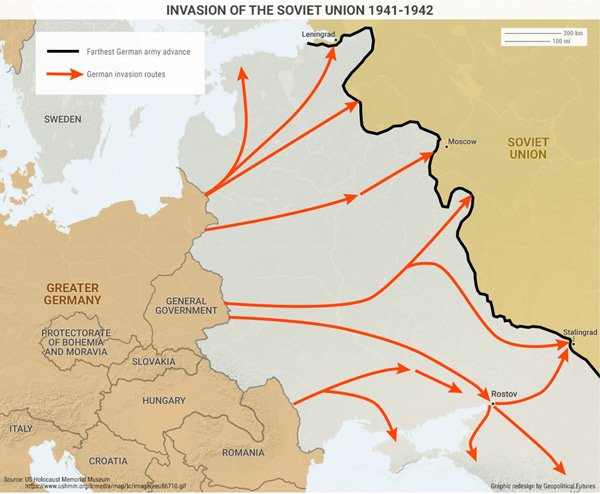 Map Of Germany Ww2.This Map Shows Germany S Critical Mistakes Fighting Russia In Wwii