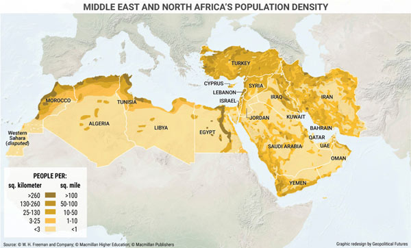 5 Maps of the Middle East and North Africa That Explain This