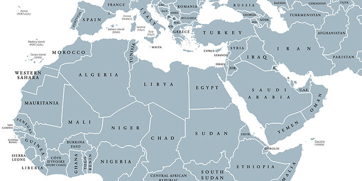 Map Of The Middle East And Africa 5 Maps of the Middle East and North Africa That Explain This