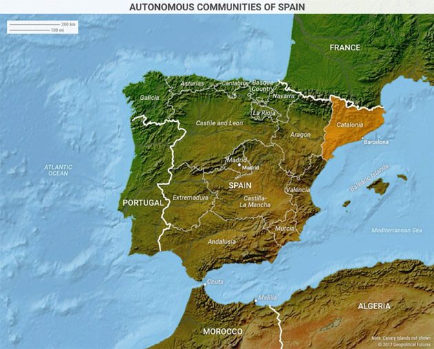 Map Of Spain Showing Catalonia.The Catalan Revolt Of 2017 This Week In Geopolitics Investment
