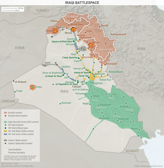 this last map amplifies the point made above showing the various groups that control parts of iraq it also shows how is has fallen back on one of its